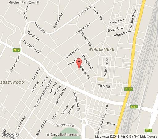 Map Bon Ami in Morningside (DBN)  Durban  Durban and Surrounds  KwaZulu Natal  South Africa