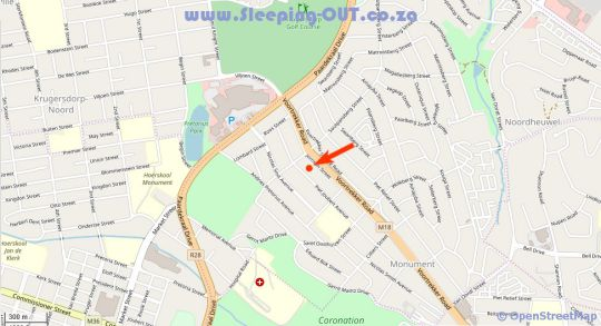 Map The Loft Guest House in Krugersdorp Central  Krugersdorp  West Rand  Gauteng  South Africa