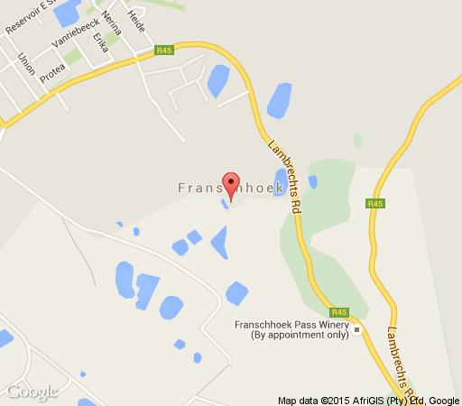 Map L\'ermitage in Franschhoek  Cape Winelands  Western Cape  South Africa
