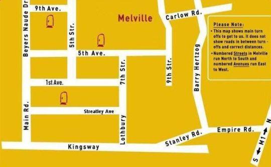 Map Mi Casa Su Casa on 5th in Melville (JHB)  Northcliff/Rosebank  Johannesburg  Gauteng  South Africa