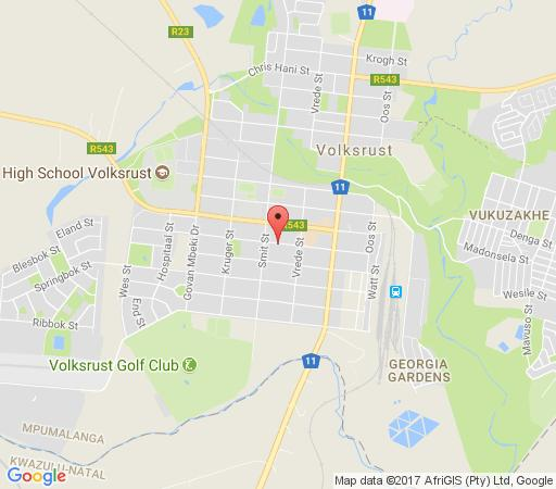 Map Gecko\'s Guest House in Volksrust  Wetlands  Mpumalanga  South Africa
