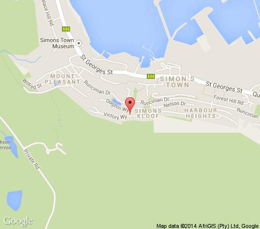 Map Azure View in Simon's Town  False Bay  Cape Town  Western Cape  South Africa