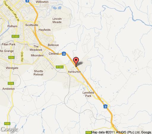 Map Thornbush Inn in Ashburton  Pietermaritzburg  Midlands  KwaZulu Natal  South Africa