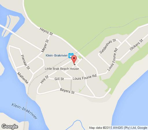 Map Little Brak Beach House in Mossel Bay  Garden Route  Western Cape  South Africa
