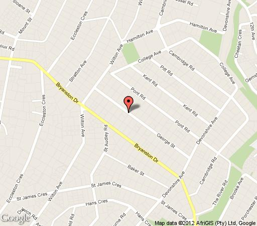 Map AshDown House in Bryanston  Sandton  Johannesburg  Gauteng  South Africa
