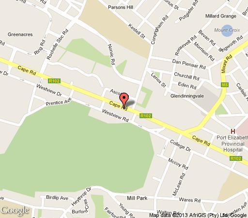 Map Fernando\'s Guest House in Mill Park  Port Elizabeth  Cacadu (Sarah Baartman)  Eastern Cape  South Africa