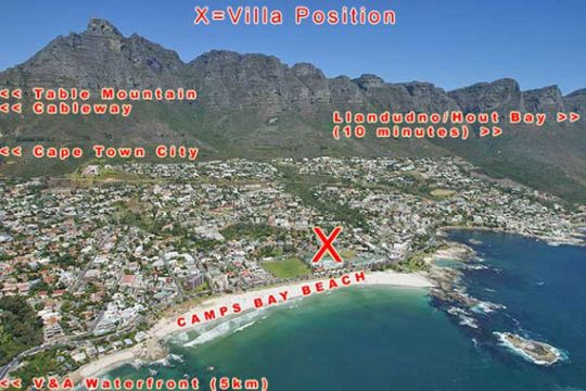 Map The Bayleaf in Camps Bay  Atlantic Seaboard  Cape Town  Western Cape  South Africa
