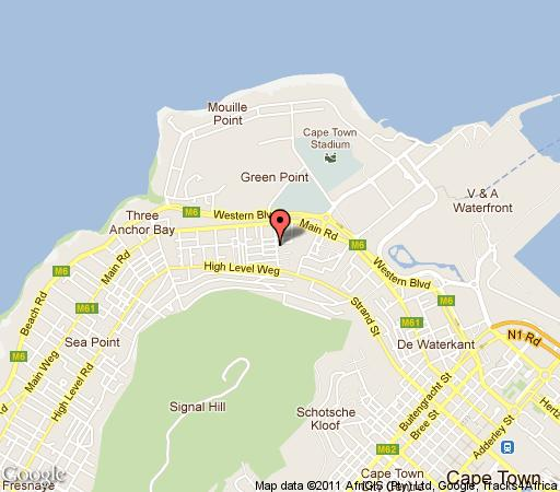 Map Dysart in Green Point  Atlantic Seaboard  Cape Town  Western Cape  South Africa