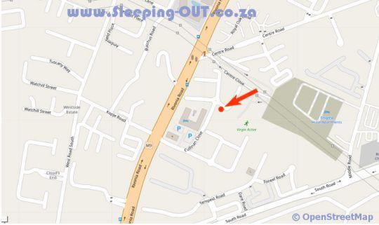 Map Polo Executive Apartments - 56 Polo in Sandton Central  Sandton  Johannesburg  Gauteng  South Africa