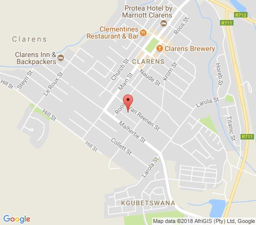 Map Alberry Cottages in Clarens  Thabo Mofutsanyana  Free State  South Africa