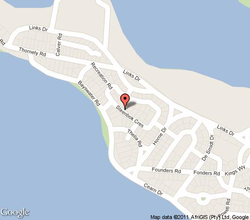 Map Leisure Isle Villa in Knysna  Garden Route  Western Cape  South Africa