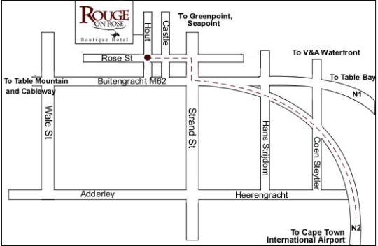 Map Rouge on Rose Boutique Hotel in Bokaap  City Bowl  Cape Town  Western Cape  South Africa