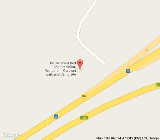 Map Owl\'s Nest in Jeffreys Bay  Cacadu (Sarah Baartman)  Eastern Cape  South Africa