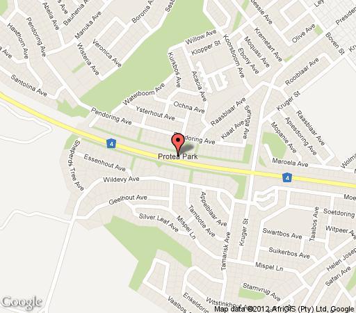 Map Bellevue Kothuis in Rustenburg  Bojanala  North West  South Africa
