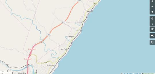 Map Serendipity Beach House and Cottage in Southport  South Coast (KZN)  KwaZulu Natal  South Africa