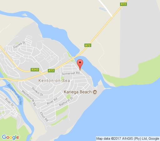 Map Sibuya Game Reserve in Kenton-on-Sea  Cacadu (Sarah Baartman)  Eastern Cape  South Africa