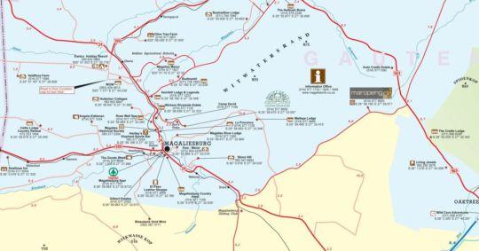 Map House of Friends & Hot Spot & Pub in Magaliesburg  West Rand  Gauteng  South Africa