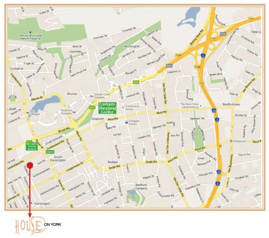 Map House on York in Kensington (JHB)  Johannesburg East  Johannesburg  Gauteng  South Africa
