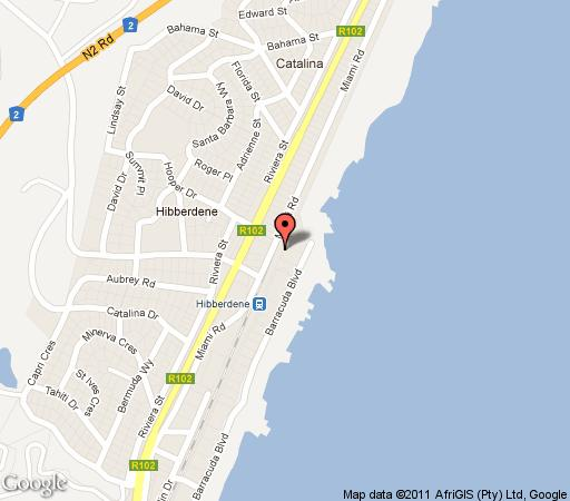 Map Op-i-C in Hibberdene  South Coast (KZN)  KwaZulu Natal  South Africa