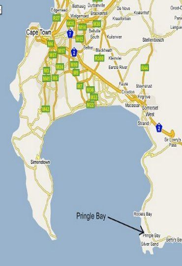Map Dreams in Pringle Bay  Overberg  Western Cape  South Africa