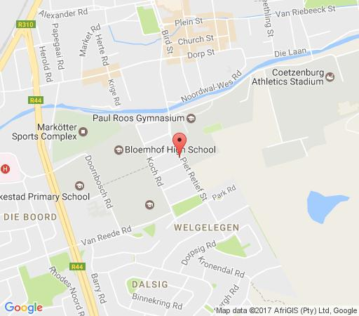 Map Rusthuiz Guest House in Stellenbosch  Cape Winelands  Western Cape  Afrique du Sud