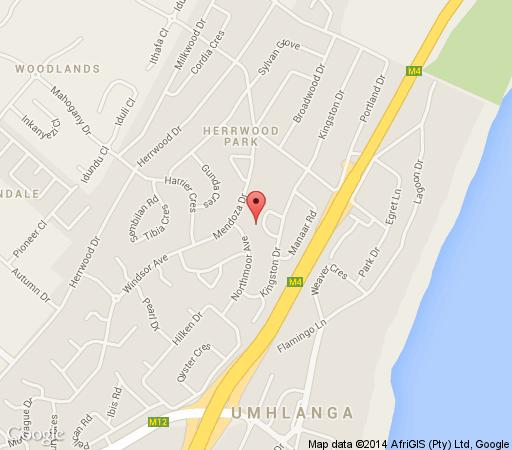 Map Kingston Place Guesthouse in Umhlanga Rocks  Umhlanga  Northern Suburbs (DBN)  Durban and Surrounds  KwaZulu Natal  Zuid-Afrika