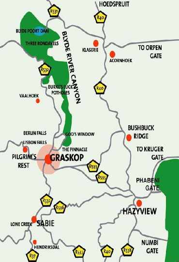 Map valleyview backpackers in graskop the panorama mpumalanga south