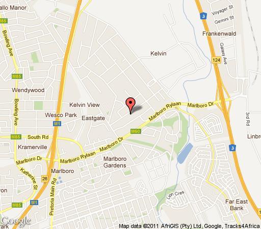 Map Maryana Guest House in Kelvin  Sandton  Johannesburg  Gauteng  South Africa