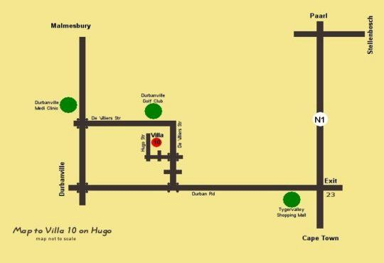 Map Villa 10 on Hugo in Durbanville  Northern Suburbs (CPT)  Cape Town  Western Cape  South Africa