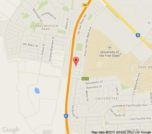 Map Grace Cottage in Bloemfontein  Mangaung  Free State  South Africa