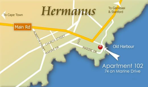 Map 74 on Marine - Apartment 102 in Hermanus  Overberg  Western Cape  South Africa