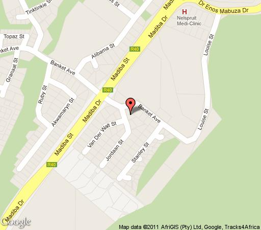 Map Ilane Guest House in Nelspruit  Lowveld  Mpumalanga  South Africa