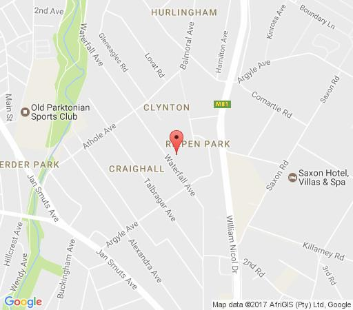Map Waterfall Cottages in Craighall Park  Northcliff/Rosebank  Johannesburg  Gauteng  South Africa