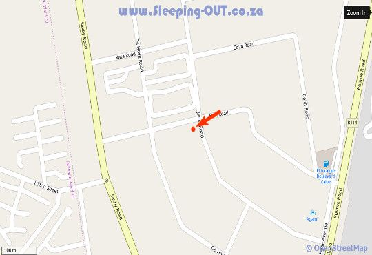 Map Aandbloem Guest House in Eldoraigne  Centurion  Pretoria / Tshwane  Gauteng  South Africa