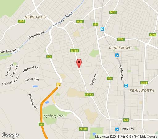 Map The Andros Deluxe Boutique Hotel in Claremont  Southern Suburbs (CPT)  Cape Town  Western Cape  South Africa