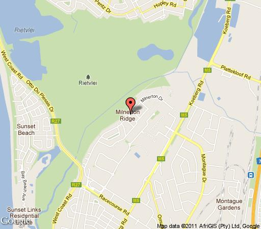 Map Kwantu Guesthouse in Milnerton  Blaauwberg  Cape Town  Western Cape  South Africa