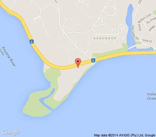 Map St James of Knysna in Knysna  Garden Route  Western Cape  South Africa
