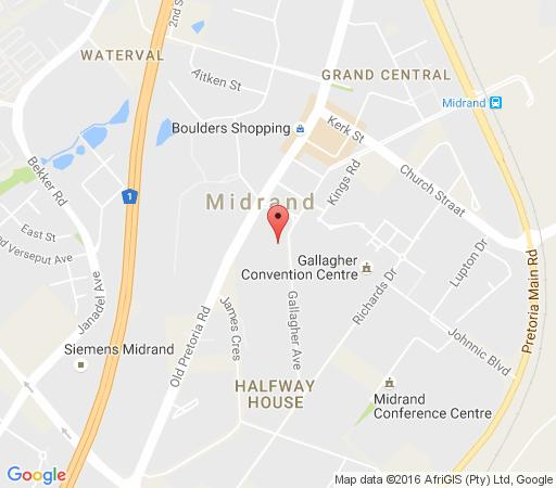 Map The Gallagher Hotel  in Halfway House  Midrand  Johannesburg  Gauteng  South Africa