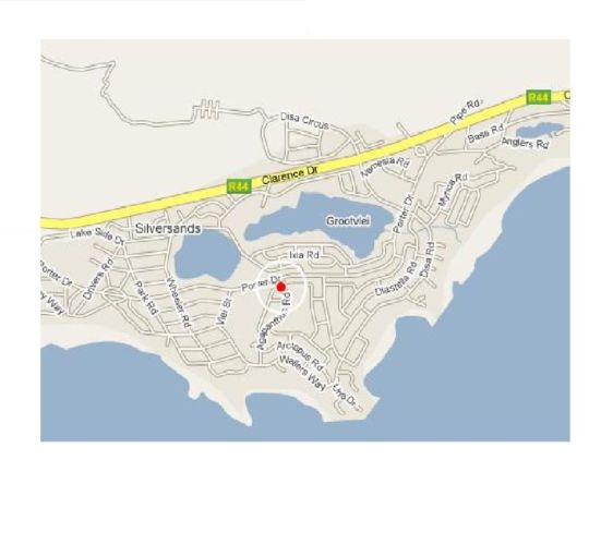 Map Tamarisk Lodge in Betty's Bay  Overberg  Western Cape  South Africa