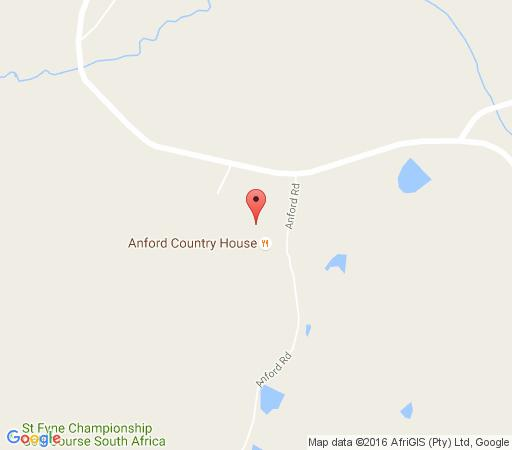 Map Anford Country House & Restaurant in Belfast  Highlands  Mpumalanga  South Africa