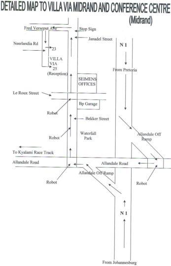 Map Villa Via Midrand in Halfway House  Midrand  Johannesburg  Gauteng  Südafrika