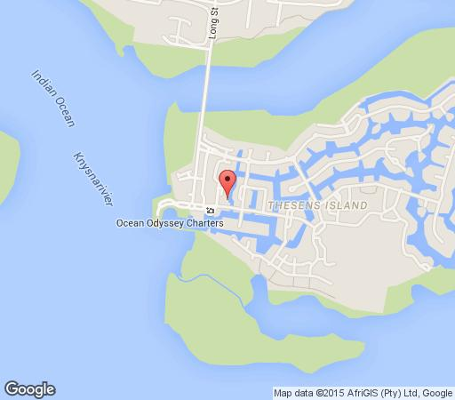 Map Lazy Island in Knysna  Garden Route  Western Cape  South Africa