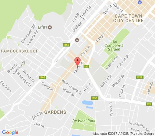 Map Gardens Arts Club in Gardens  City Bowl  Cape Town  Western Cape  South Africa