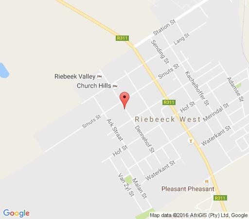 Map Riebeek Valley Arts Club in Riebeek West  Cape Winelands  Western Cape  South Africa