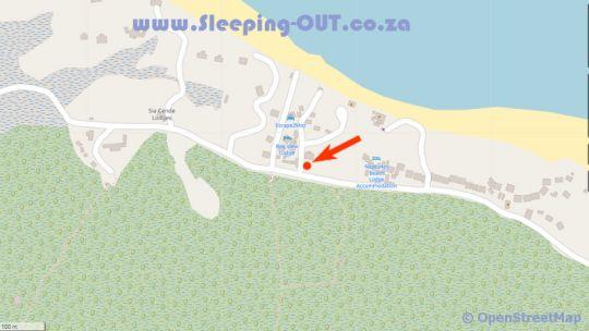 Map Bayview Lodge  in Barra  Inhambane  Mozambique