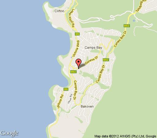Map Balfour Place in Camps Bay  Atlantic Seaboard  Cape Town  Western Cape  South Africa
