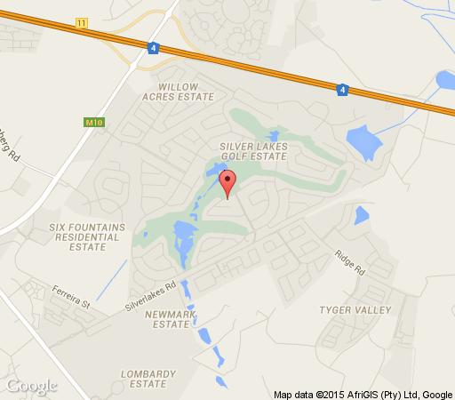 Map The Lakes Boutique Lodge in Silver Lakes  Pretoria East  Pretoria / Tshwane  Gauteng  South Africa
