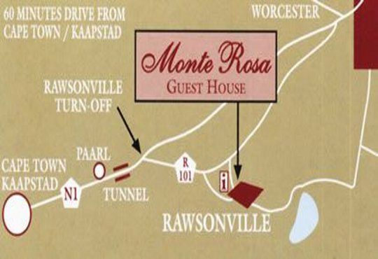 Map Monte Rosa  in Rawsonville  Breede River Valley  Western Cape  South Africa