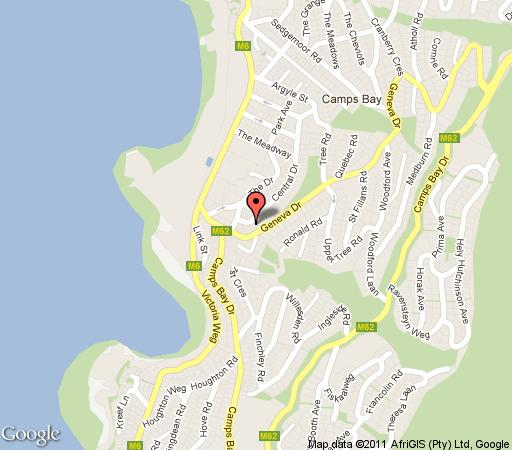 Map 17 Geneva; Lower in Camps Bay  Atlantic Seaboard  Cape Town  Western Cape  South Africa