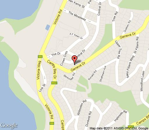 Map 17 Geneva; Middle in Camps Bay  Atlantic Seaboard  Cape Town  Western Cape  South Africa